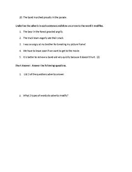 Adverbs test