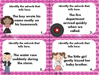 Adverbs that Tell How Task Cards