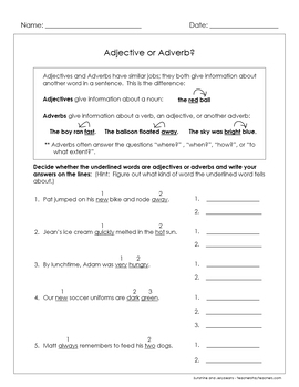 Adverbs that tell When, Where & How - 4 worksheets - Grades 2-3 - CCSS