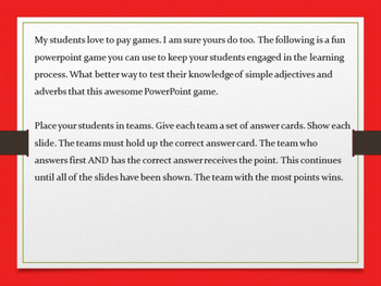 Adverbs vs. Adjectives Game
