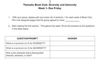 Adversity & Diversity Book Clubs