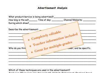 Media Analysis: Advertisement