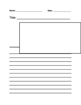 Advertisement Template for Writing