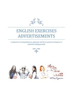 Grade 7/8 English - Advertisement Writing Lesson Plan