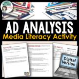 Advertising (Ad) Analysis and Media Literacy Digital Activity