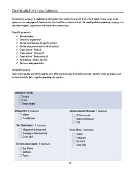 Business / Advertising / Marketing / Promotion Campaign Project Assessment