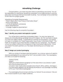 Advertising Challenge - Develop a Persuasive Advertising Campaign