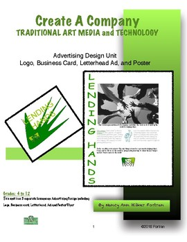 Advertising Design Graphic Arts and Computer Lessons for 4 to 12 Grade