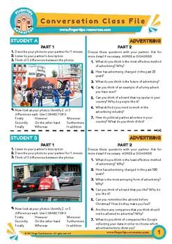 Advertising - ESL Speaking Activity