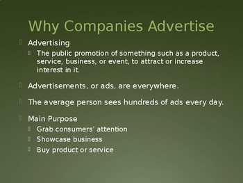 Advertising - Intro to Business Ch. 14
