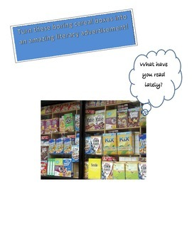 Advertising Literacy  - A Cereal Box Book Report