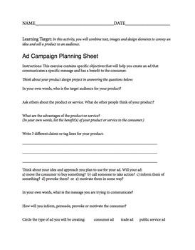 Advertising Planning Sheet