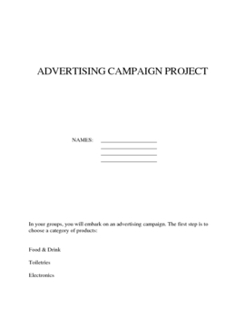 Advertising Product Campaign Project