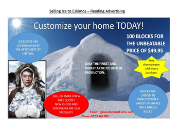 Advertising Reading - Selling Ice to Eskimos
