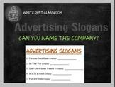 Advertising Slogan Worksheet