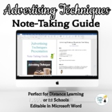 Advertising Techniques Note -Taking Guide - Online Distanc