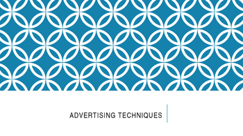Advertising Techniques PPT