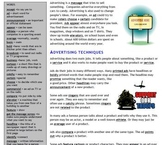 Advertising - Text and Exercise Sheets