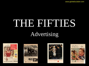 Advertising - The Fifties