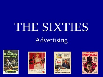 Advertising - The Sixties