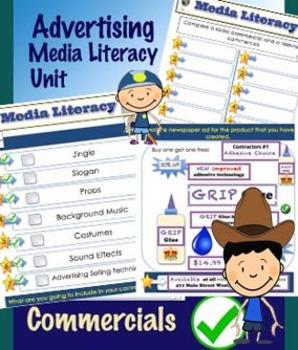 Advertising Unit - Commercials - Media Literacy PDF Unit - Language 45 Pages