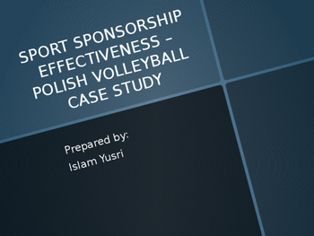 Advertising Value Equivalency (AVE) Case of POLISH VOLLE Sports