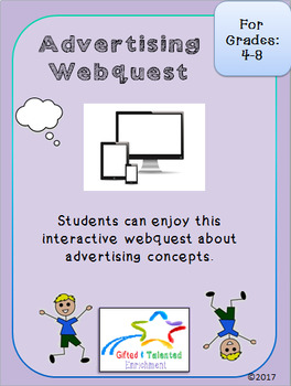 Advertising Webquest 1