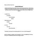 Advertising Worksheet