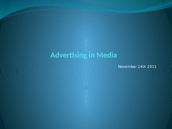 Advertising in Media