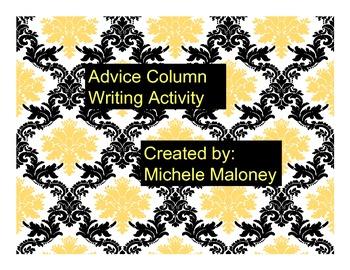 Advice Column writing activity