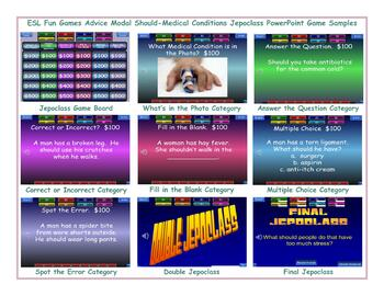 Advice Modal Should-Medical Conditions Jeopardy PowerPoint Game
