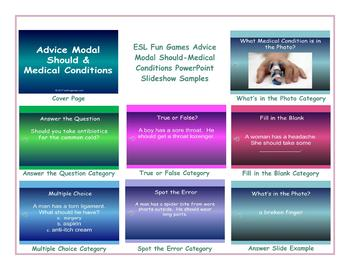 Advice Modal Should-Medical Conditions PowerPoint Slideshow