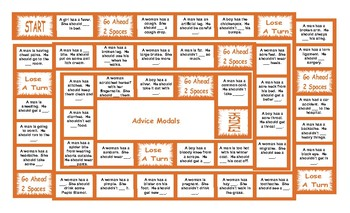 Advice Modals Legal Size Text Board Game
