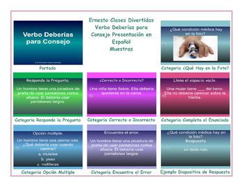 Advice Modals Spanish PowerPoint Presentation
