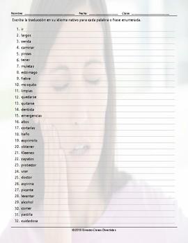 Advice Modals Translating Spanish Worksheet
