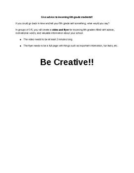 Advice Video/Flyer Assignment