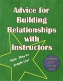 Advice for Building Relationships with Instructors: A Student Handout