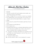Advice for First Year Teachers