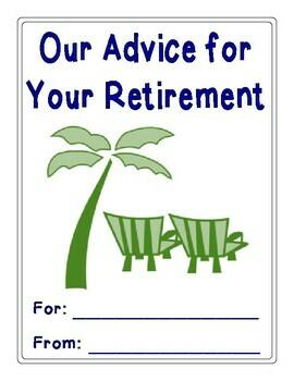 Advice for Retirement: A Fun Retirement Party Activity! {Retirement Advice Book}