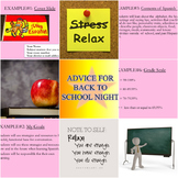 Advice for back to school night