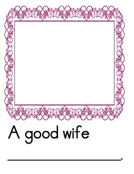 Advice for the Bride and Groom class book for the teacher getting married