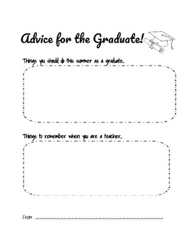 Advice for the Graduate