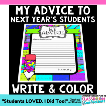 """Advice to Next Year's Students: """"Pattern Picture"""" for End of Year Activity"""