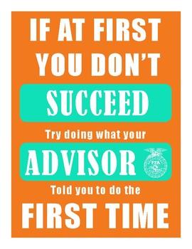 FFA Advisor Sign