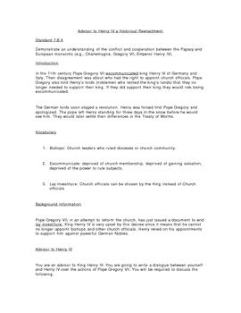 Advisor to Henry IV A Historical Reenactment