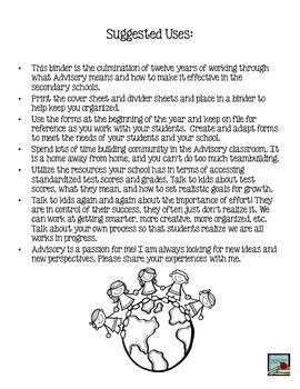 Advisory Binder for Organization