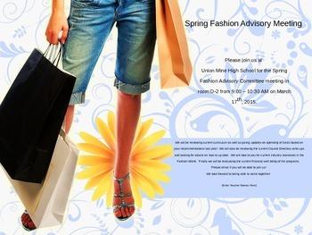 Advisory Committee Invitation - Fashion