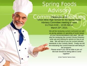 Advisory Committee Invitation - Foods/Culinary