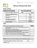 Advisory Grade Sheet
