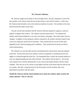 Advisory Group Series - Mr. Peterson's Dilemma